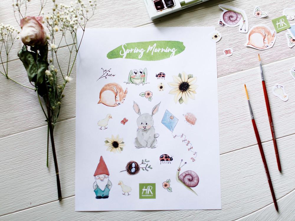 Etsy Shop Sticker Sheet Digital Download