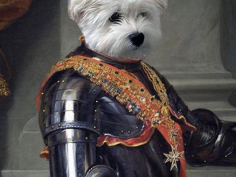 I Photoshopped My Dog Into Royalty.