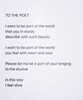 TO THE POET