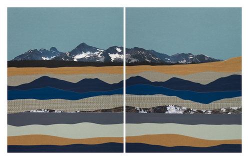 Redfish Lake I & II | original collage