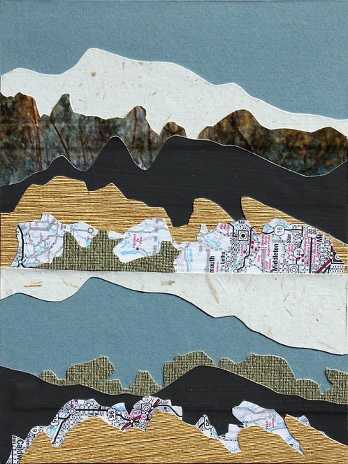 Foothills in the Snow I   giclee print