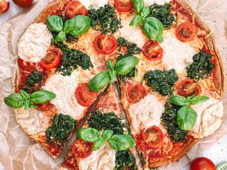 Glutenfreie und vegane Pizza