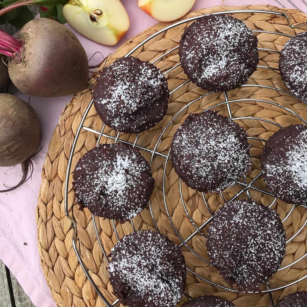Glutenfreie Rote-Bete-Muffins
