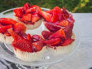 Glutenfreie Erdbeertörtchen