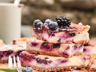 Glutenfreier Heidelbeer-Quarkkuchen