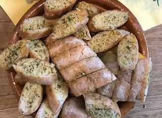 Vegane Kräuterbaguette
