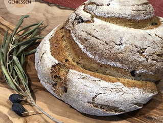 Glutenfreies Olivenbrot