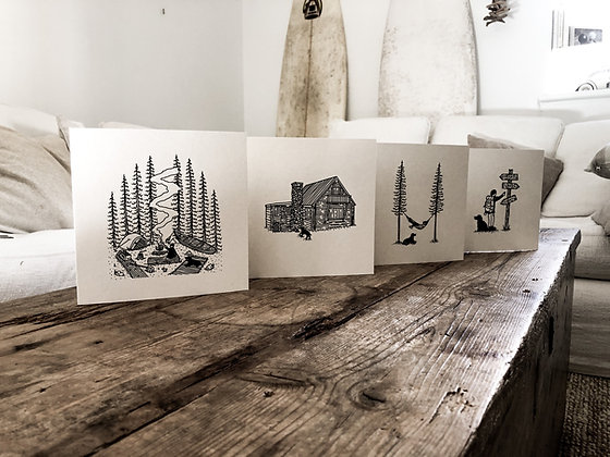 The adventures of Oliver and oak - greeting card pack