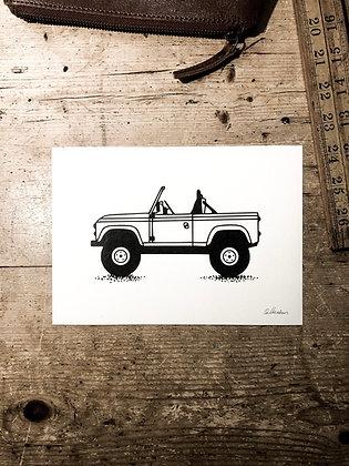 Heritage Defender - Signed a5 print