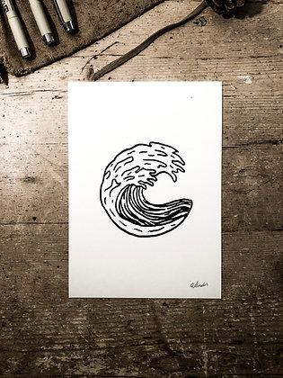 Shore break -Signed a5 print
