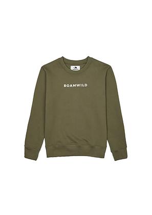 Olive Embroidered Sweatshirt