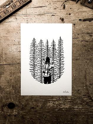 Woodland adventure -Signed a5 print