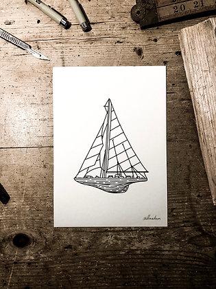 Sail away - Signed a5 prints