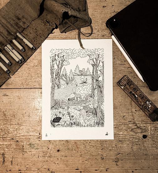 Woodland print