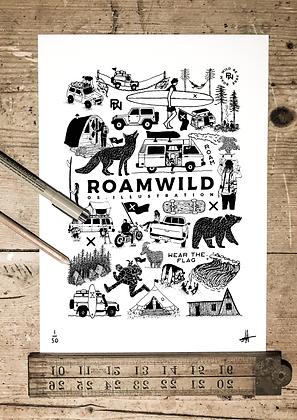 Roam wild print