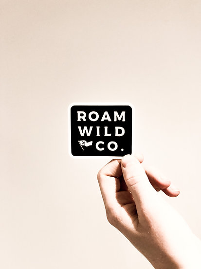 roam wild sticker