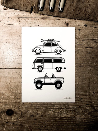 The classic collection - Signed a5 print