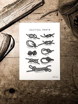 Nautical Knots - Signed a5 prints