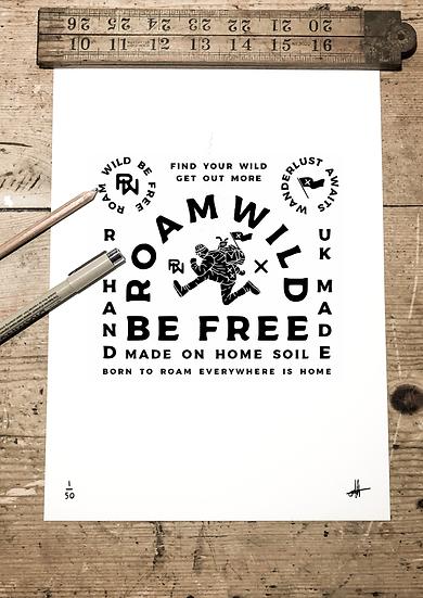 BE FREE print