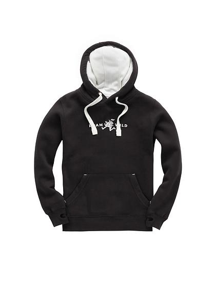 Black Embroidered Hoodie