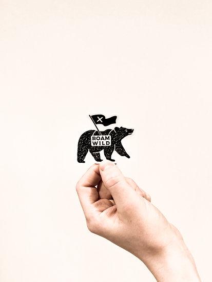 Roam wild bear sticker