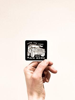 4x4 long way home sticker