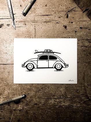 Surf bug - Signed a5 print