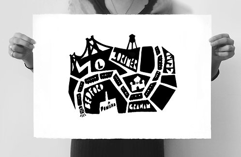 L Train Silkscreened Art Print (Limited Edition of 49)