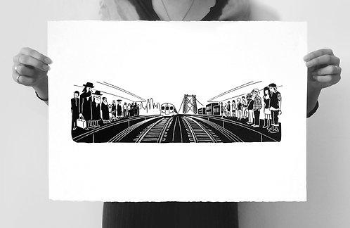 JMZ Train Silkscreened Art Print (Limited Edition of 100)
