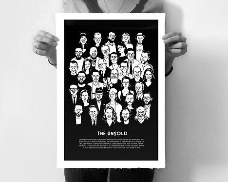 THE UNSOLD Silkscreened Art Print