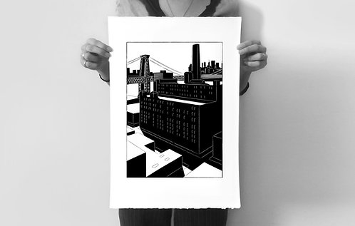 Domino Sugar Silkscreened Art Print