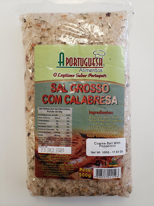 Aportuguesa Sal Grosso Calabresa/Pepperoni Sea Salt