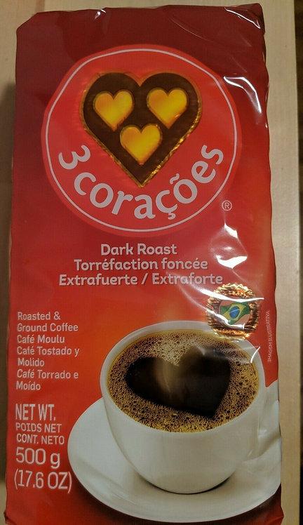3 Corações Extra Forte/Dark Roasted Coffe