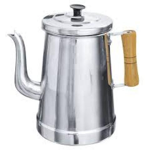 Bule Aluminio Cabo de Madeira/Aluminum Teapot with Wooden Handle