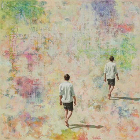 Pursuing a Dream - acrylique sur toile / acrylic on canvas - 100cm x 100cm