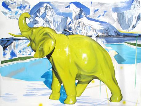 Éléphant - Huile sur toile / oil on canvas - 195cm x 146cm