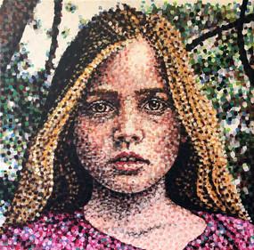 Sara - huile sur toile - 50cm x 50cm
