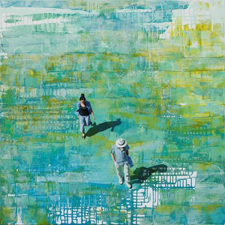 The Color of Hope - acrylique sur toile / acrylic on canvas - 100cm x 100cm