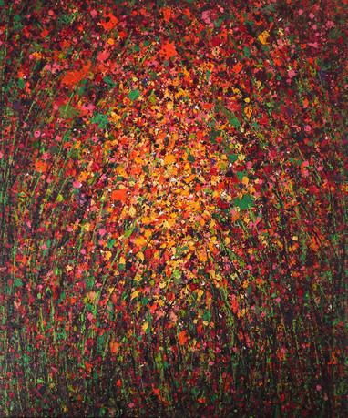 Luminous Ways 14.2 - Huile sur toile / Oil on canvas - 120 x 100 cm