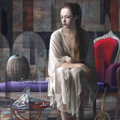 Cenerentola - huile sur toile / oil on canvas 100cm x 100cm