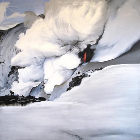 Explosion - huile sur toile / oil on canvas - 180cm x 180cm