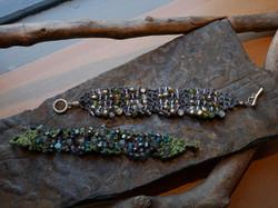silk and bead bracelets