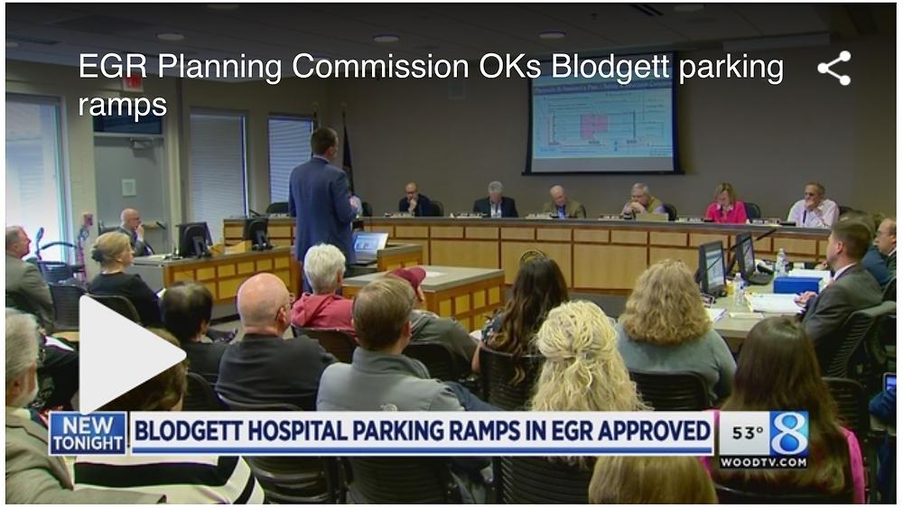 EGR Planning commission meeting News segment on WoodTV