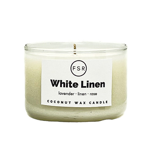 White Linen Candle