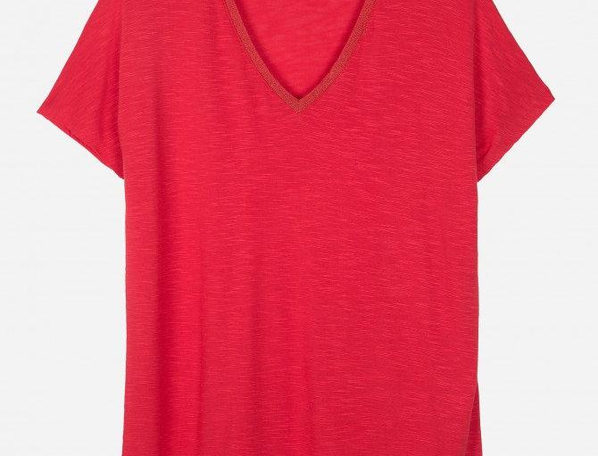 T-shirt cuello pico