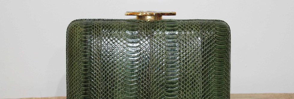 Clutch serpiente de agua verde caza