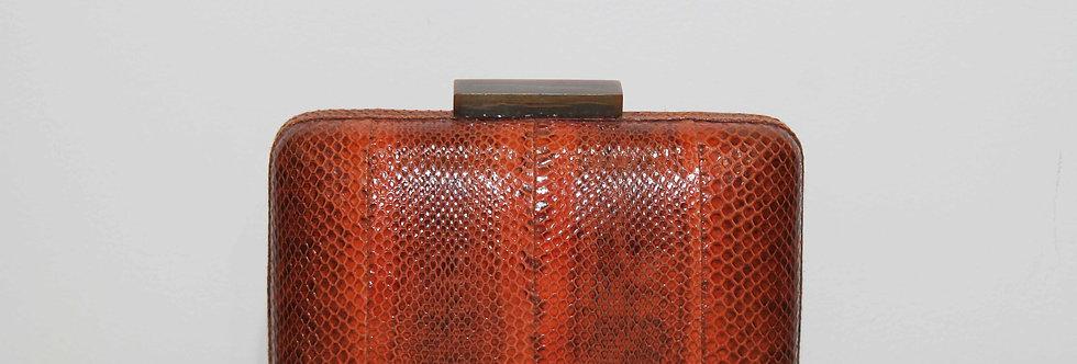 Clutch serpiente de agua naranja