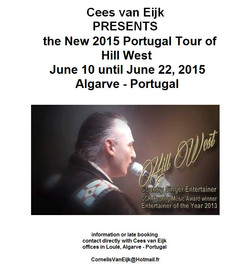 Hill West Country Singer Portugal Tour 2015