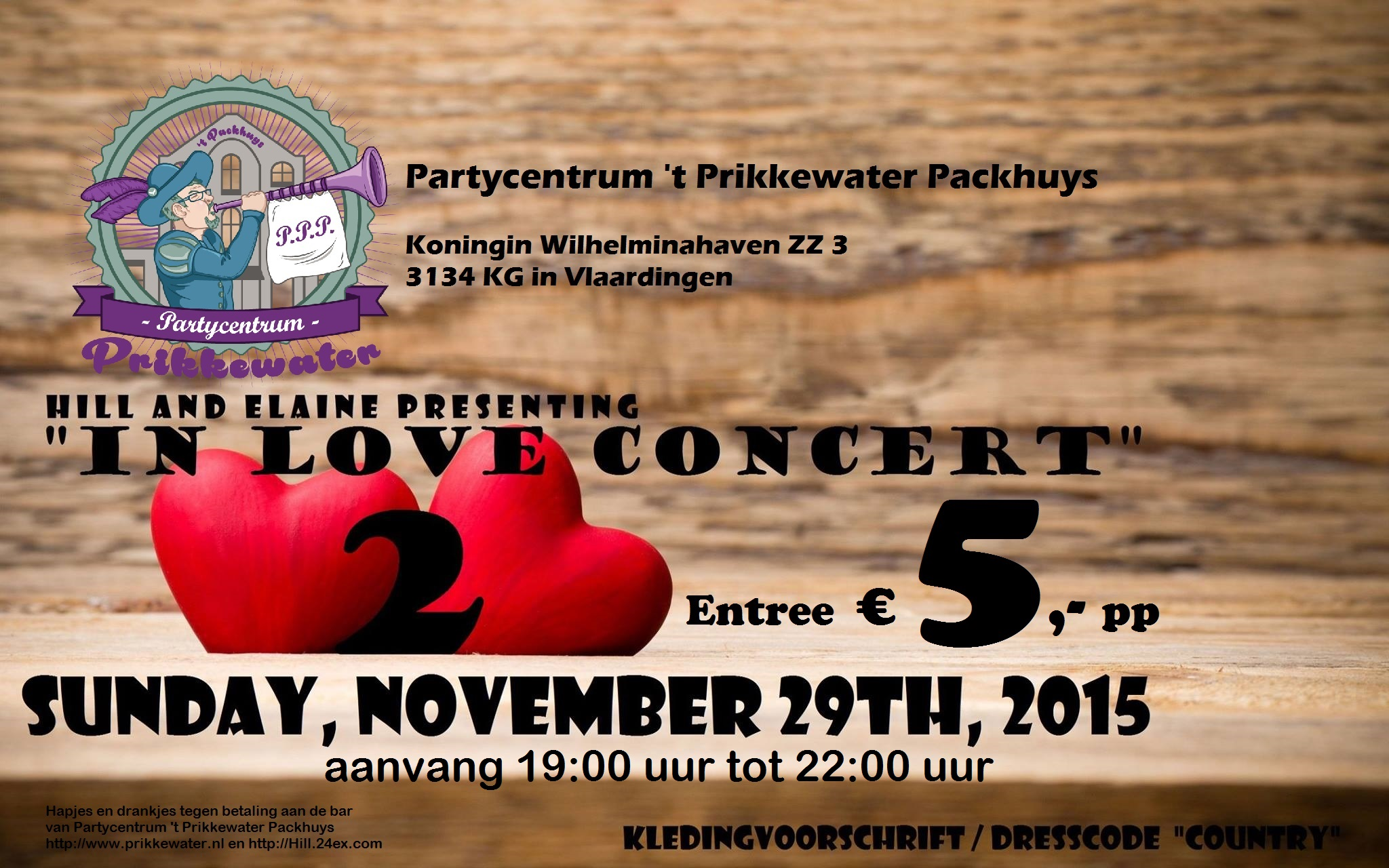 Prikkewater vlaardingen Hill West Country Singer in love concert 2