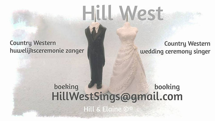 Hill West Country huwelijksceremonie zanger wedding ceremony singer